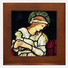 Saint Agnes by Burne Jones Framed Tile
