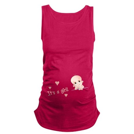Its a girl Maternity Tank Top