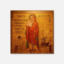 "Saint Anastasia Square Sticker 3"" x 3"""