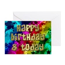 8th Birthday card with stars. Greeting Cards