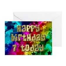 7th Birthday card with stars. Greeting Cards