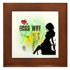 The Boss Wife Framed Tile