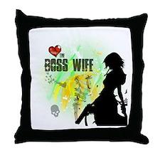The Boss Wife Throw Pillow