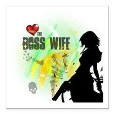"""The Boss Wife Square Car Magnet 3"""" x 3"""""""