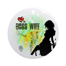 The Boss Wife Round Ornament