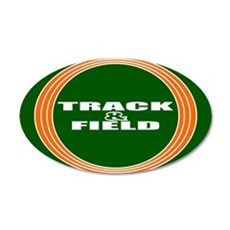 Track and Field 35x21 Oval Wall Decal
