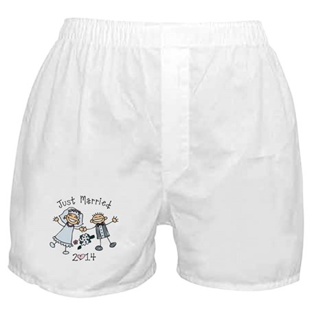 Stick Just Married 2014 Boxer Shorts