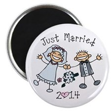 Stick Just Married 2014 Magnet