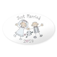 Stick Just Married 2014 Decal