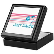 Stripe Just Mauid 14 Keepsake Box