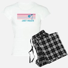 Stripe Just Mauid 14 Pajamas