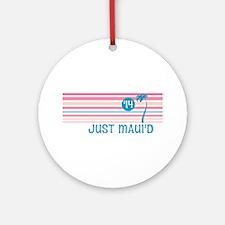 Stripe Just Mauid 14 Ornament (Round)