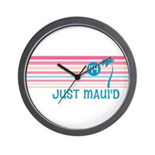 Stripe Just Mauid 14 Wall Clock