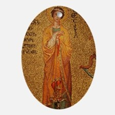 Saint Cecilia Oval Ornament