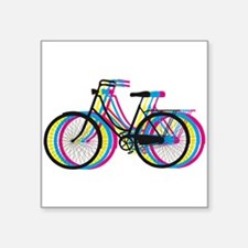 Colorful bicycle silhouette, design for t-shirts S