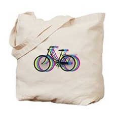 Colorful bicycle silhouette, design for t-shirts T