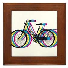 Colorful bicycle silhouette, design for t-shirts F