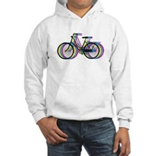 Colorful bicycle silhouette, design for t-shirts H