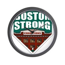 Boston Strong Home Plate Wall Clock