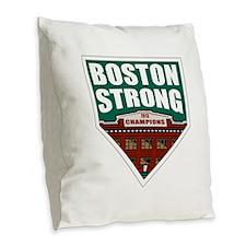 Boston Strong Home Plate Burlap Throw Pillow