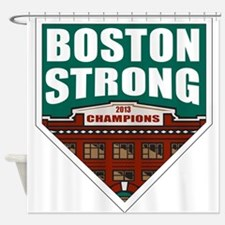 Boston Strong Home Plate Shower Curtain