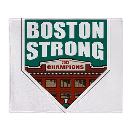 Boston Strong Home Plate Throw Blanket
