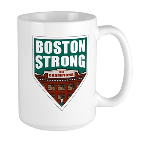 Boston Strong Home Plate Mugs