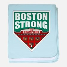 Boston Strong Home Plate baby blanket