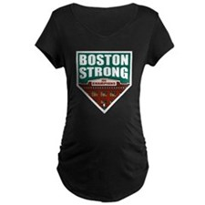 Boston Strong Home Plate Maternity T-Shirt