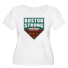 Boston Strong Home Plate Plus Size T-Shirt