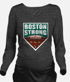 Boston Strong Home Plate Long Sleeve Maternity T-S