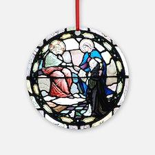 St Catherine of Sienna Round Ornament