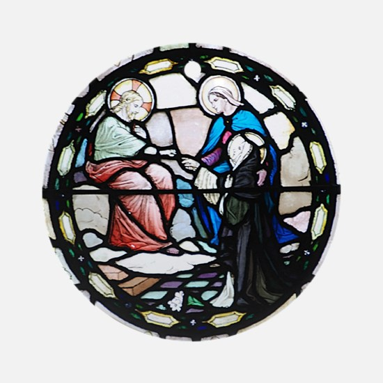 St Catherine of Sienna Round Ornament