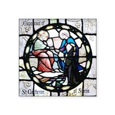 "St Catherine of Sienna Square Sticker 3"" x 3"""