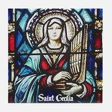 St Cecilia Tile Coaster