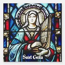 """St Cecilia Square Car Magnet 3"""" x 3"""""""