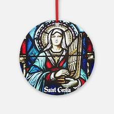 St Cecilia Round Ornament