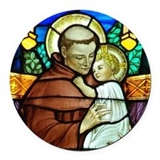St Anthony Round Car Magnet
