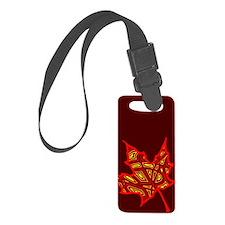 Fire Leaf Luggage Tag