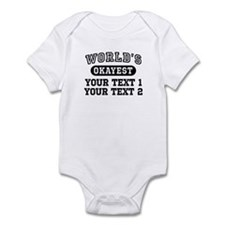 Personalize World's Okayest Infant Bodysuit
