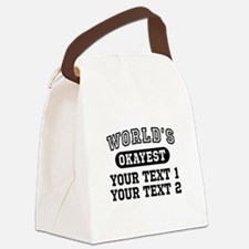 Personalize World's Okayest Canvas Lunch Bag