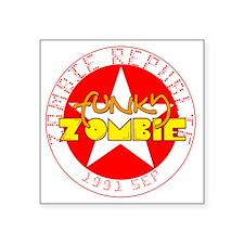 "2-Funky ZOmbie Square Sticker 3"" x 3"""