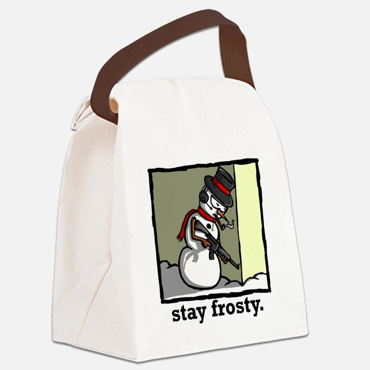 stay frosty final Canvas Lunch Bag