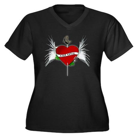 wildgeese2 Women's Plus Size Dark V-Neck T-Shirt