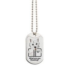 Westie Reads Dog Tags