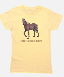 Personalized Horse Girl's Tee