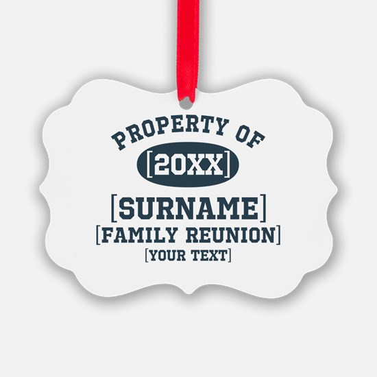 Personalize Family Reunion Ornament