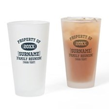 Personalize Family Reunion Drinking Glass