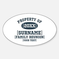 Personalize Family Reunion Sticker (Oval)