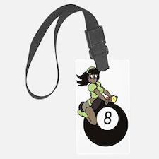 Black girl on 8 ball Luggage Tag